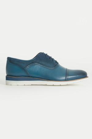 Hatem Saykı - Hakiki Deri Mavi Günlük Ayakkabı