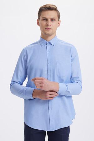 Hatemoğlu - Mavi Regular Gömlek