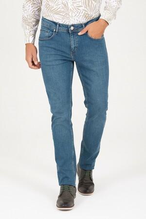 Hatem Saykı - Yeşil Regular Fit Kot Pantolon