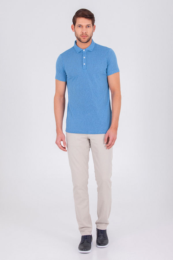HTML - Mavi Baskılı Regular T-shirt (1)