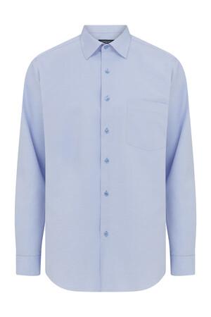 Hatemoğlu - Mavi Armürlü Klasik Gömlek