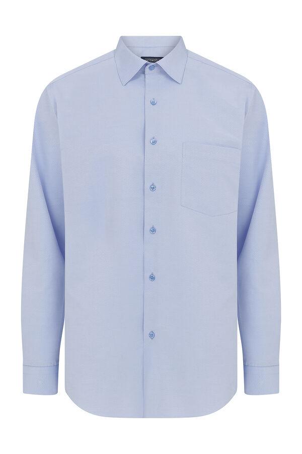 Mavi Armürlü Klasik Gömlek