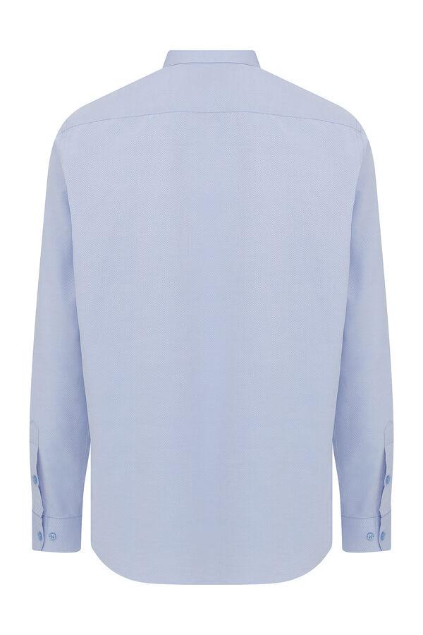 Hatemoğlu - Mavi Armürlü Klasik Gömlek (1)
