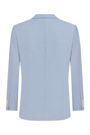 Hatemoğlu - Açık Mavi Desenli Slim Fit Ceket (1)