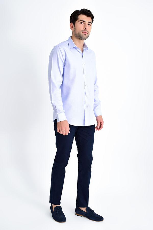 HATEM SAYKI - Mavi Desenli Slim Fit Gömlek (1)