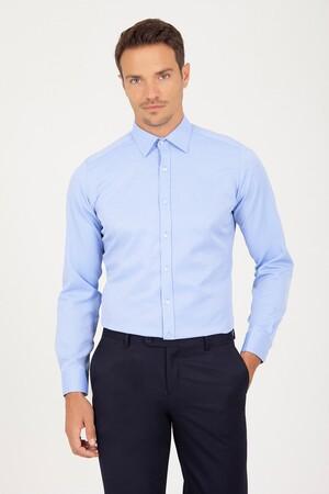 Hatemoğlu - Slim Fit Mavi Gömlek