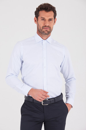 Hatemoğlu - Mavi Slim Fit Gömlek