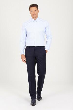 Hatem Saykı - Regular Fit Buz Mavisi Gömlek (1)