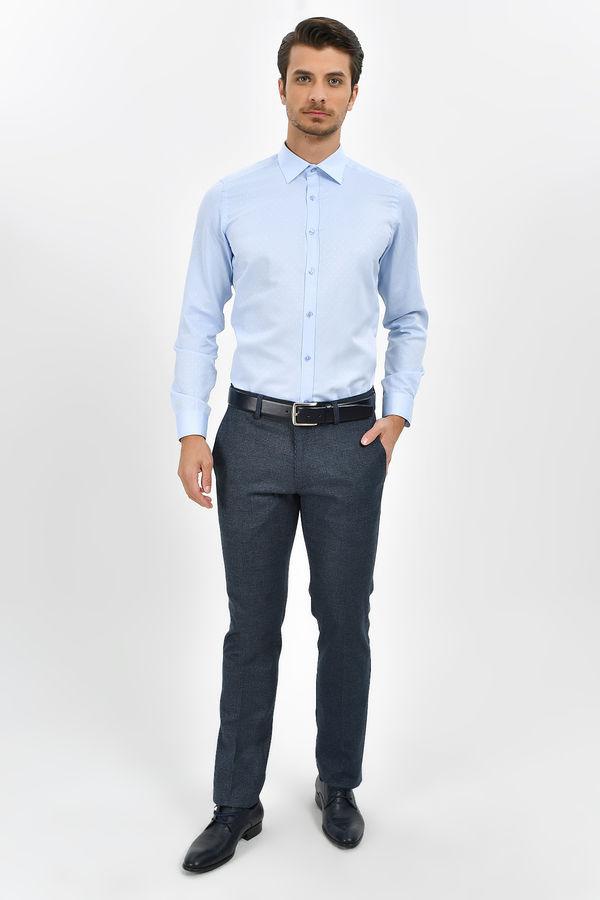 HATEMOĞLU - Mavi Desenli Slim Fit Gömlek (1)