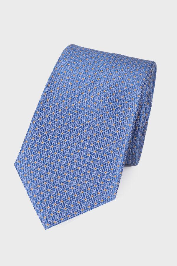Mavi Desenli Kravat