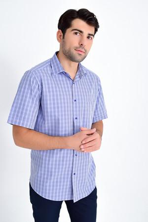 Hatemoğlu - Mavi 3 Kareli Klasik Gömlek