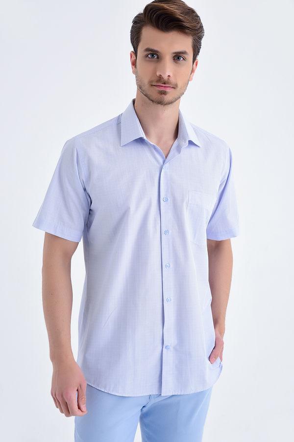 HATEMOĞLU - Kareli Klasik Mavi Gömlek