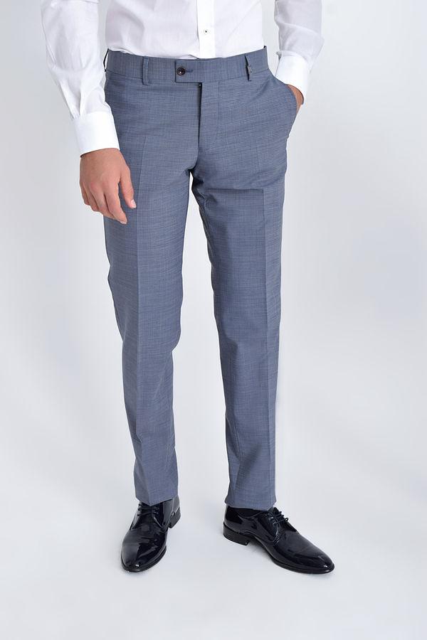 HATEM SAYKI - Mavi Kazayağı Kazayağı Slim Fit Pantolon