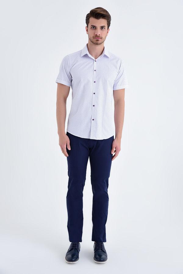 HATEMOĞLU - MOR Baskılı Slim Fit Gömlek (1)