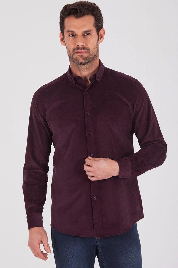 HATEM SAYKI - Mor - Slim Fit Gömlek