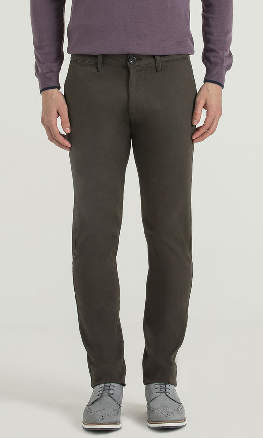 HATEM SAYKI - Olive Petek Slim Fit Pantolon