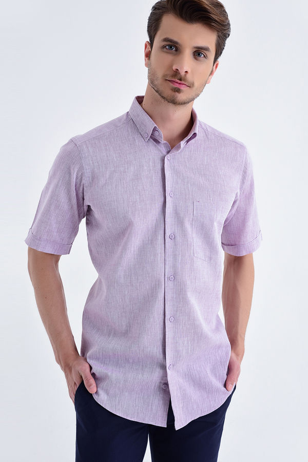 HATEMOĞLU - Pembe Regular Gömlek
