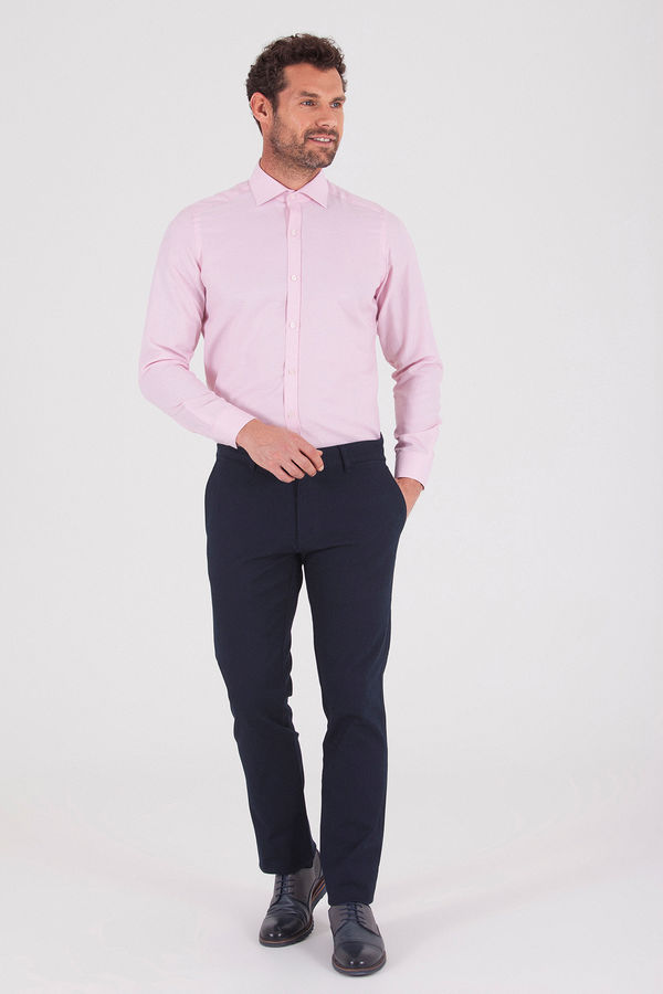 Hatemoğlu - Pembe Desenli Slim Fit Gömlek (1)