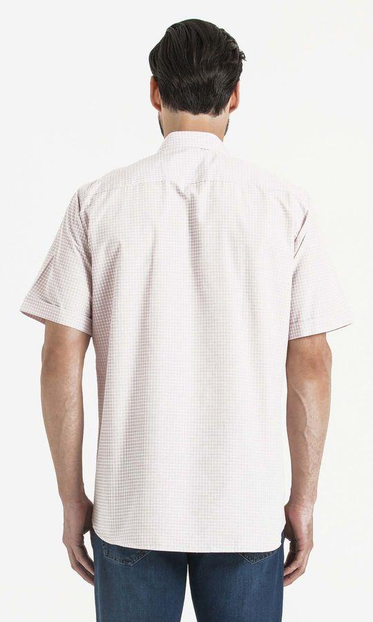 Pitikare Kareli Klasik Bordo Gömlek