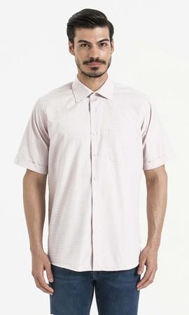 Hatemoğlu - Pitikare Kareli Klasik Bordo Gömlek