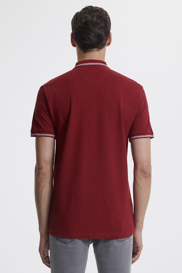 Polo Yaka Bordo T-shirt