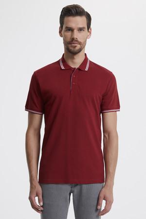 Polo Yaka Bordo T-shirt - Thumbnail