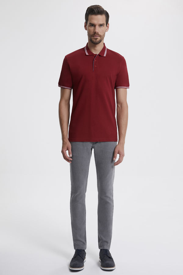 Hatemoğlu - Polo Yaka Bordo T-shirt (1)