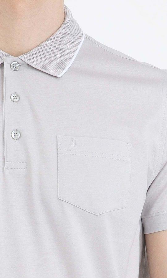 Gri Polo Yaka Basic Tişört