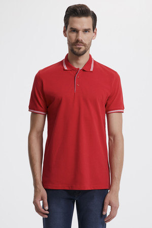 Hatemoğlu - Polo Yaka Kırmızı T-shirt