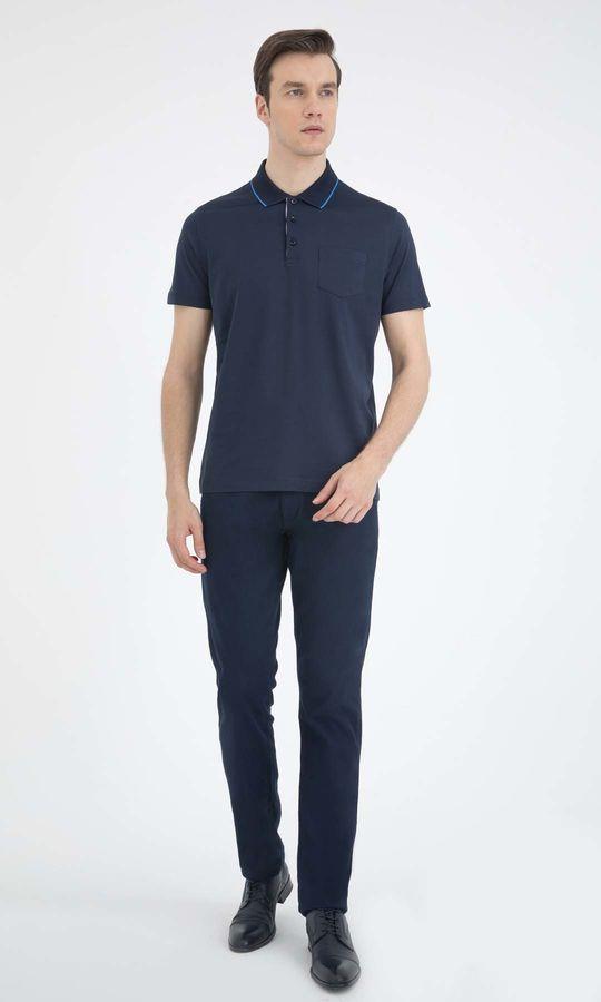 Hatemoğlu - Lacivert Polo Yaka Basic Tişört (1)
