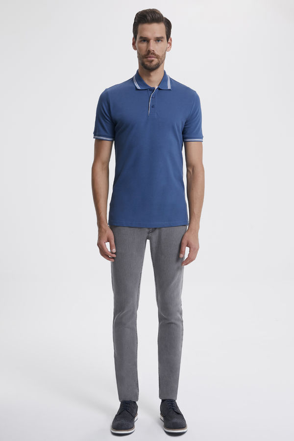 Hatemoğlu - Polo Yaka Mavi T-shirt (1)
