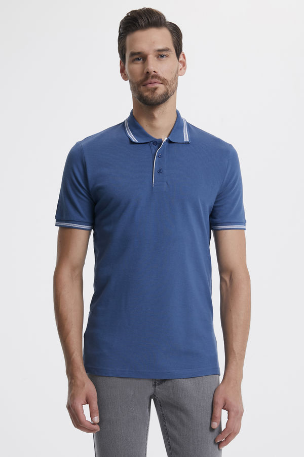 Hatemoğlu - Polo Yaka Mavi T-shirt
