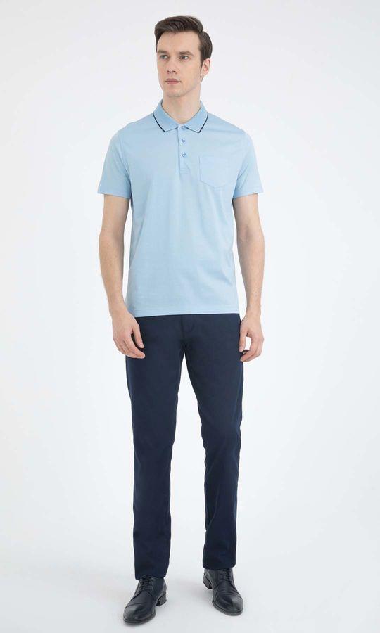 Hatemoğlu - Açık Mavi Polo Yaka Basic Tişört (1)