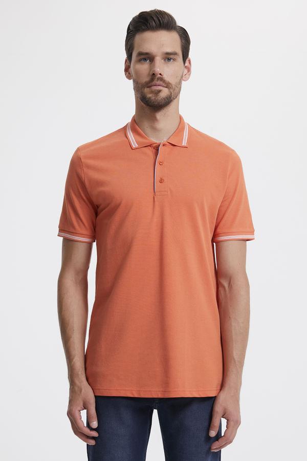 Hatemoğlu - Turuncu Polo Yaka Basic Tişört