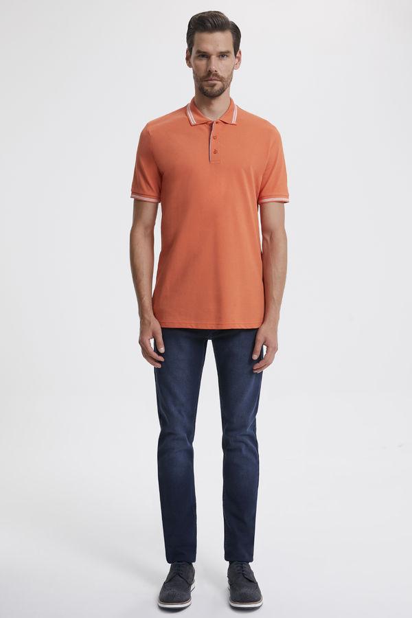 Hatemoğlu - Turuncu Polo Yaka Basic Tişört (1)
