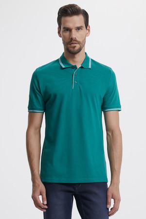 Hatemoğlu - Polo Yaka Yeşil T-shirt