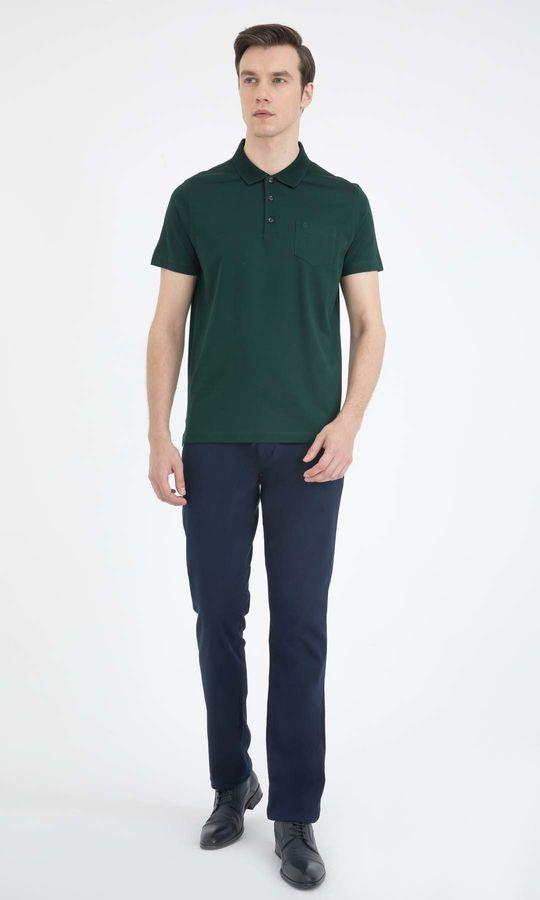 Hatemoğlu - Yeşil Polo Yaka Basic Tişört (1)