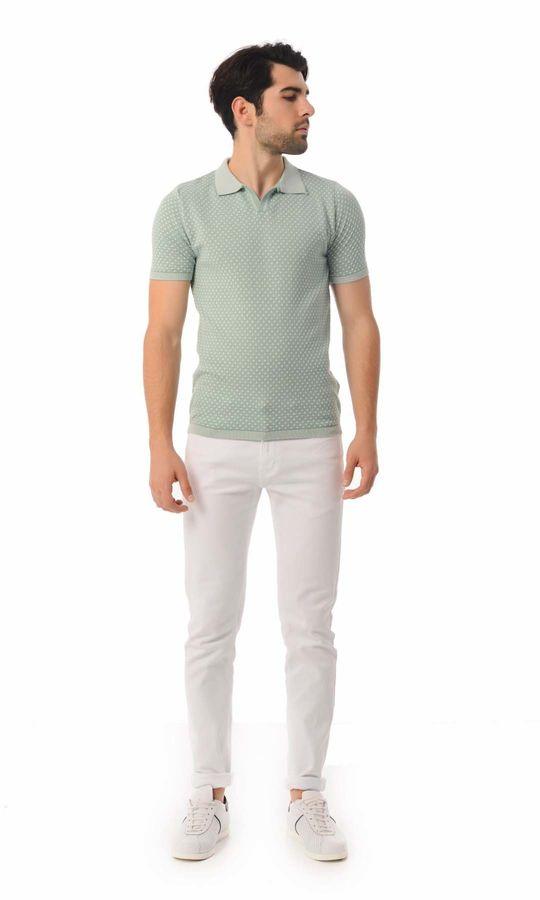 Hatem Saykı - Polo Yaka Yeşil Triko Tişört (1)
