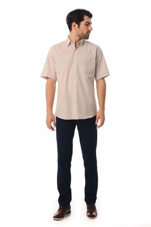 Hatemoğlu - Regular Bej Gömlek (1)