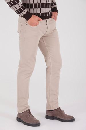 Bej Regular Fit Spor Pantolon - Thumbnail