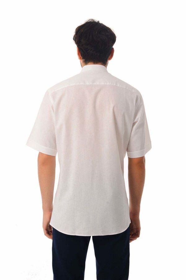 Regular Fit Kısa Kol Beyaz Gömlek
