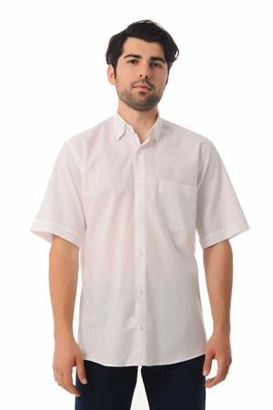 Hatemoğlu - Regular Fit Kısa Kol Beyaz Gömlek