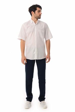 Hatemoğlu - Regular Fit Kısa Kol Beyaz Gömlek (1)