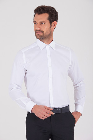Hatem Saykı - Regular Beyaz Gömlek