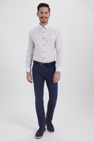 Lacivert Regular Fit Kot Pantolon - Thumbnail