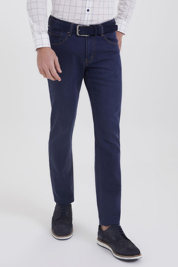 Hatemoğlu - Lacivert Regular Fit Kot Pantolon