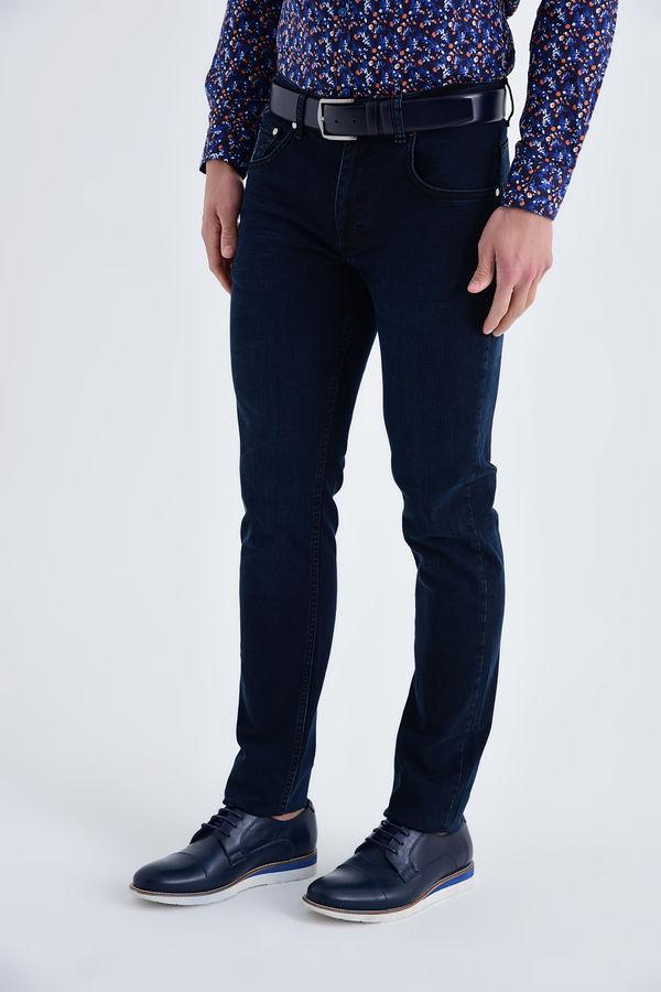 Lacivert Regular Fit Kot Pantolon