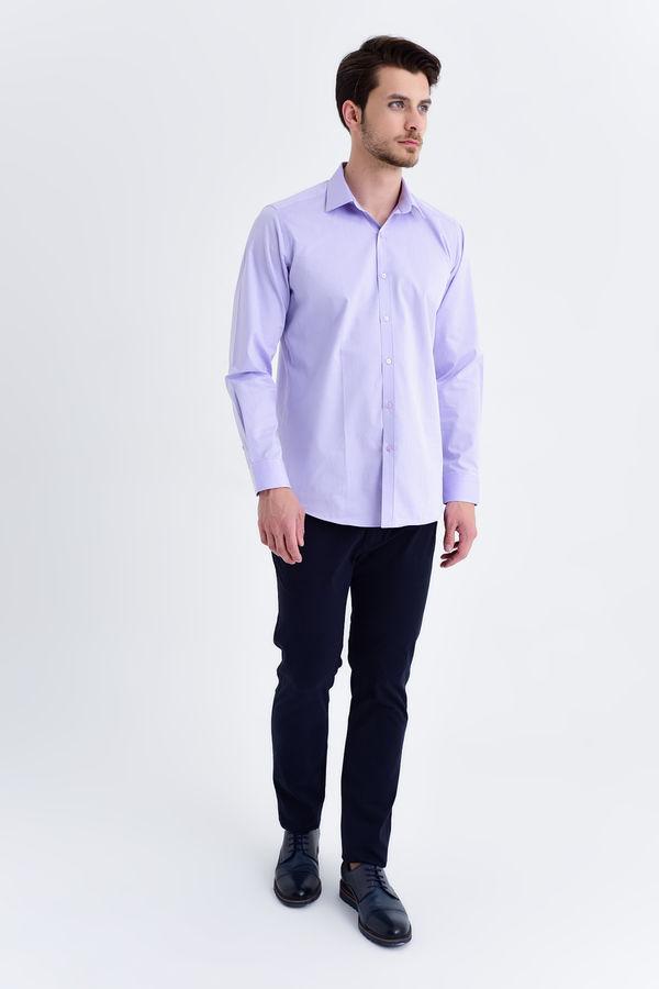 Hatem Saykı - Lila Klasik Gömlek (1)