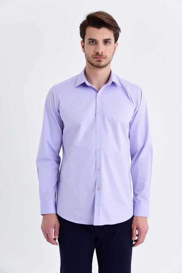 Hatem Saykı - Lila Klasik Gömlek