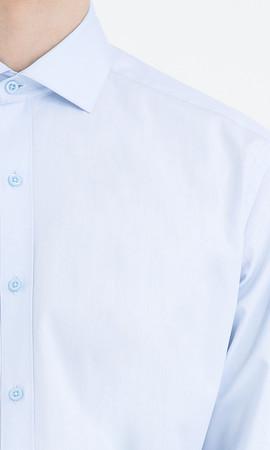 Regular Mavi Gömlek - Thumbnail